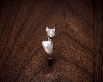 Fox Ring - Kitsune - in Sterling Silver