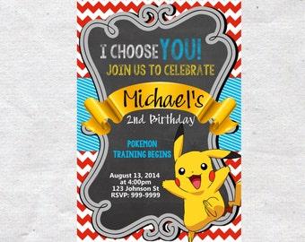 pokemon birthday invitation  etsy, Party invitations