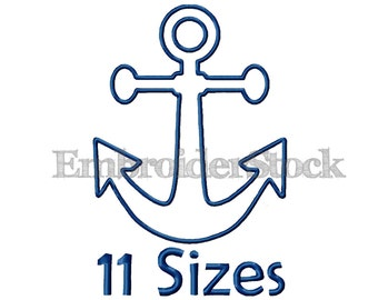 Anchor Applique Design For Download Anchor Embroidery Applique - 11 Sizes