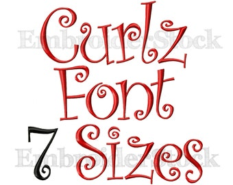 Curlz Font Embroidery Design Alphbet Curlz Embroidery Font Design Fonts For Embroidery