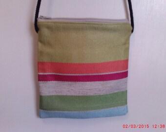 Stripe Zipper Bag, Stripe crossbody bag, Stripe crossbody bag, Stripe purse, Stripe pocketbook, Multi Color Bag, Multi Color purse, 7x7  bag