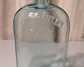Vintage Blue Glass Flask