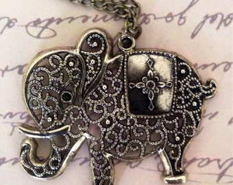 Elephant Link Chain Necklace