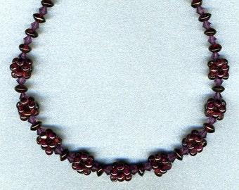 garnet berry beaded choker-jewelry