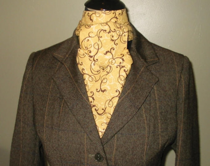 Brown and Tan Swirl Stock Tie