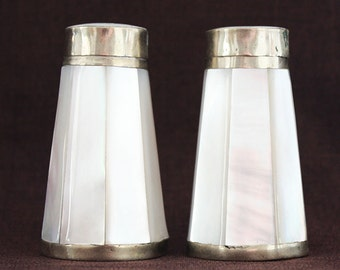 Mother of Pearl Salt and Pepper Shakers c. 1970s