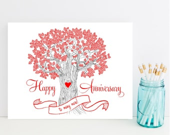 Happy Anniversary Card - Anniversary Card for Couple