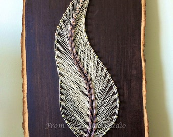 STRING ART feather decor