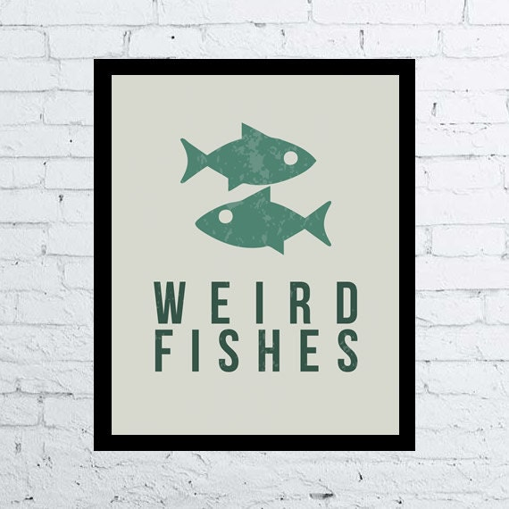 Radiohead Weird Fishes printable wall art decor by ...