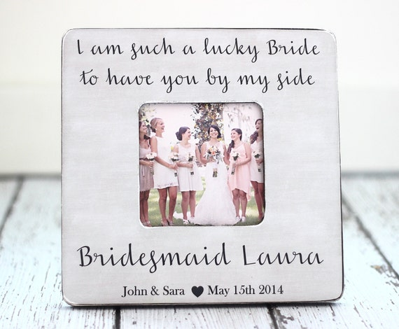 Personalized Country Wedding Gifts: Bridesmaid GIFT Personalized Frame Rustic Country Wedding