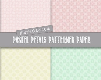 Digital Papers - Pastel patterned paper - Downloadable Pastel background papers - Commercial Use Digital Papers (PDP1)