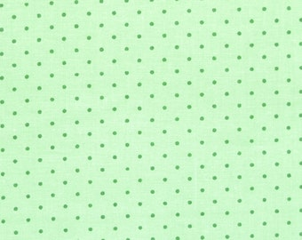 FAT QUARTER Quilt cotton fabric dark green polka dots on light green background Tone on tone By the yard half yard fat quarter TTOV01 FQ1