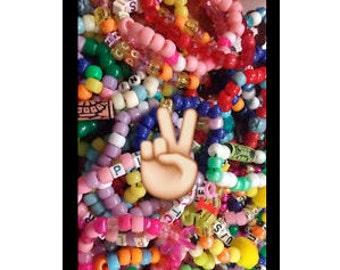 20 Single Random Kandi Raver Bracelet For Music Festivals Rave