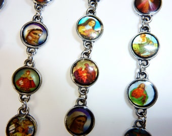Bracelet with little Pictures of Saints