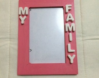 Wooden frame painted by hand