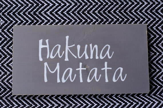 Handmade Wood Art Wall Decor Sign Hakuna Matata by ...