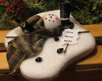 Melting Snowman - Bowl Filler- Ornie