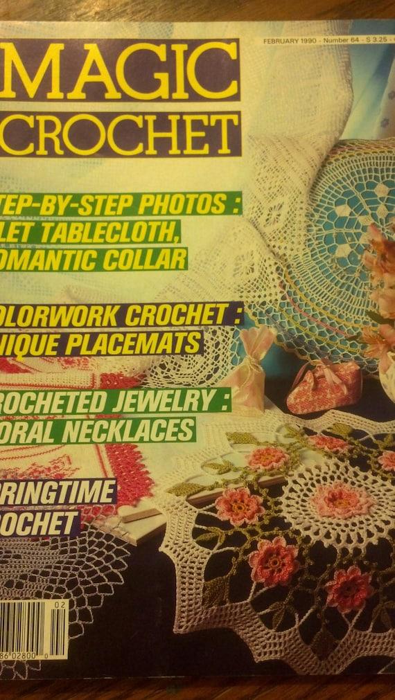 Magic Crochet Magazine : Magic Crochet Magazine, February 1990 #64 Crochet Pattern thread Book ...