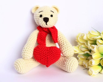 Amigurumi Valentine Teddy Bear Part Two : Unavailable Listing on Etsy
