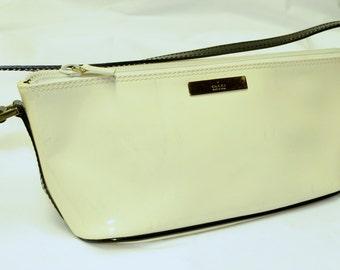 GUCCI Ivory Patent Leather  Purse