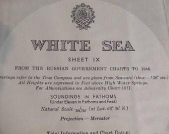 The White Sea - Kovda Sound - Keret Bay - Porya Sound - Sosnovaya Inlet - Piryu Arms - Nautical Chart