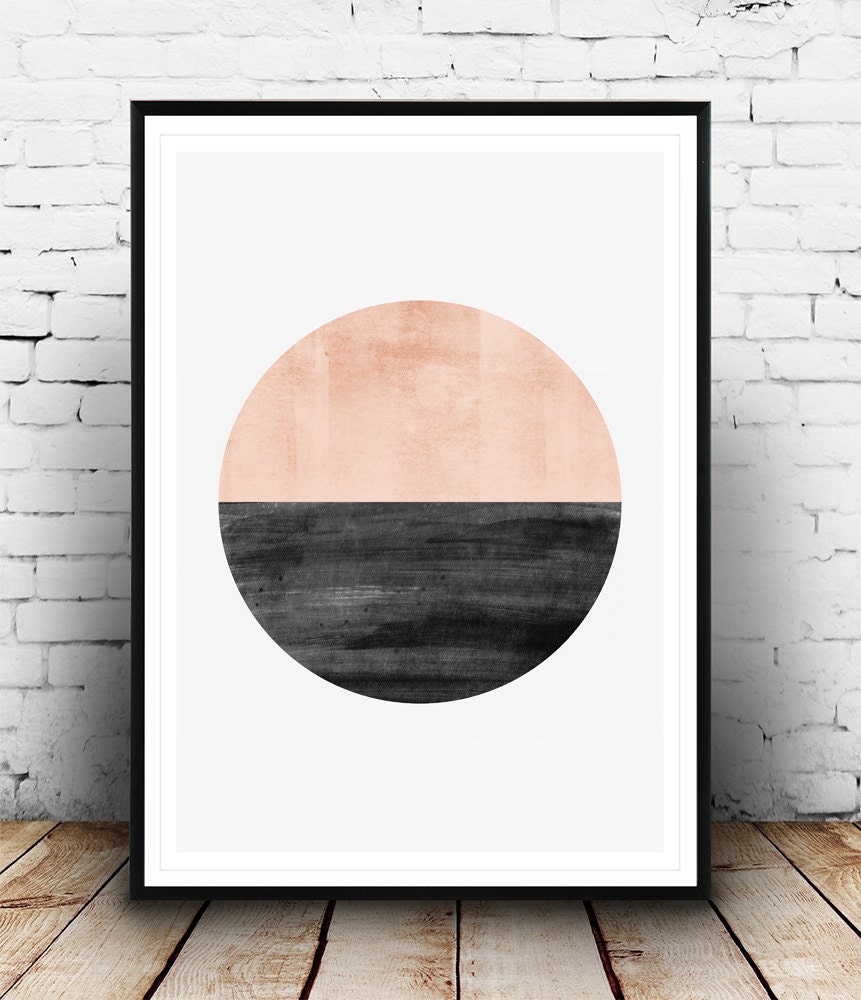 Minimalist print abstract watercolor art geometric art for Art minimaliste artiste