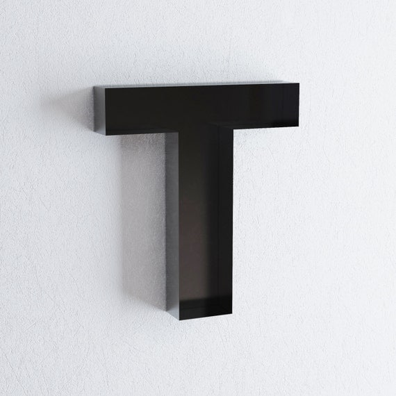 Metal Wall Letters Home Decor: Wall Hanging Letters T Sign Letter Wall Decor