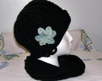 Midnight Crochet Cloche Hat