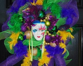 Mardi Gras Decorative Wreath/Swag