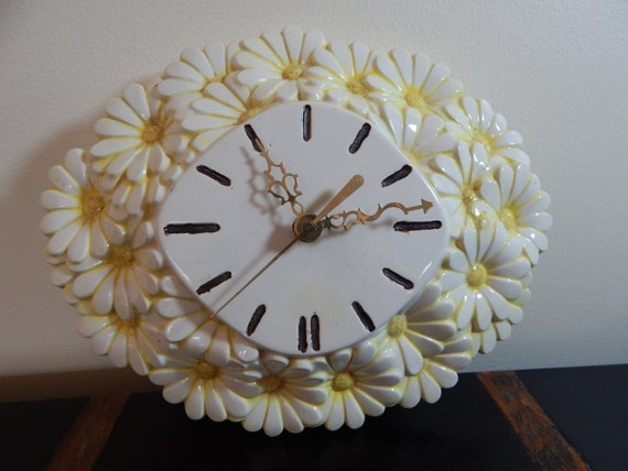 Vintage Daisy Clock
