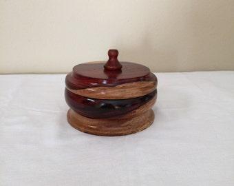 Exotic Cocobolo Jewelry Box or Keepsake Box