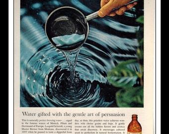 "Vintage Print Ad December 1965 : Olympia Beer Wall Art Decor 8.5"" x 11"" Advertisement"