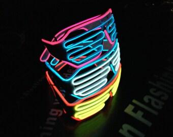 el wire glasses wit 2 colors