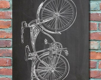 Schwinn Bike Patent Wall Art Print, Bike Patent Art, Bike Patent Poster, Bike Blueprint, Patent Print, Plexity Prints #086