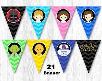 Star Wars Birthday Party Banner, Star Wars Birthday Banner, Star Wars Banner, Star Wars Bunting