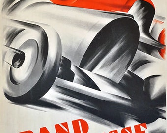 AD89 Vintage 1934 Swiss Grand Prix Motor Racing Advertising Poster Re-Print Wall Decor A3/A4