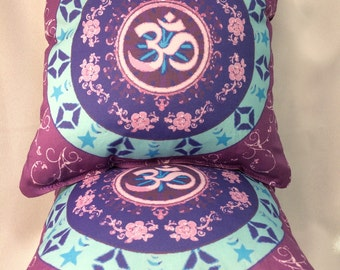 Purple Om Pillow 9x9~