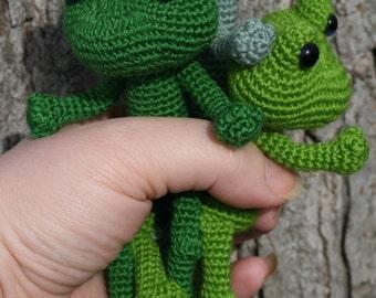 Miniature Amigurumi Frog