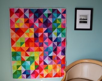 Patchwork Prism Modern Quilt. Made to Order