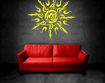 Wall Vinyl Sticker Decals Mural Room Design Pattern Sun Rays Light  bo160