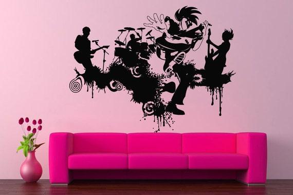 Wall vinyl sticker decals mural room design pattern music for Concert wall mural
