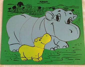 Vintage Hippo Playskool Puzzle