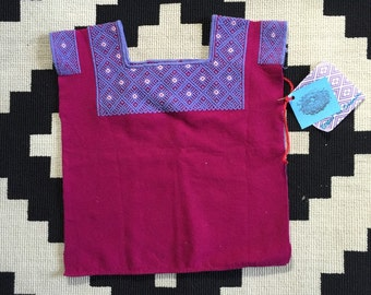 Purple tunic with periwinkle embroidery