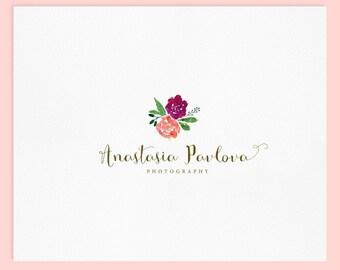 Premade Logo Design / Watercolor Logo / Photography Logo / Wedding Logo / Business Logo / Photography Watermark
