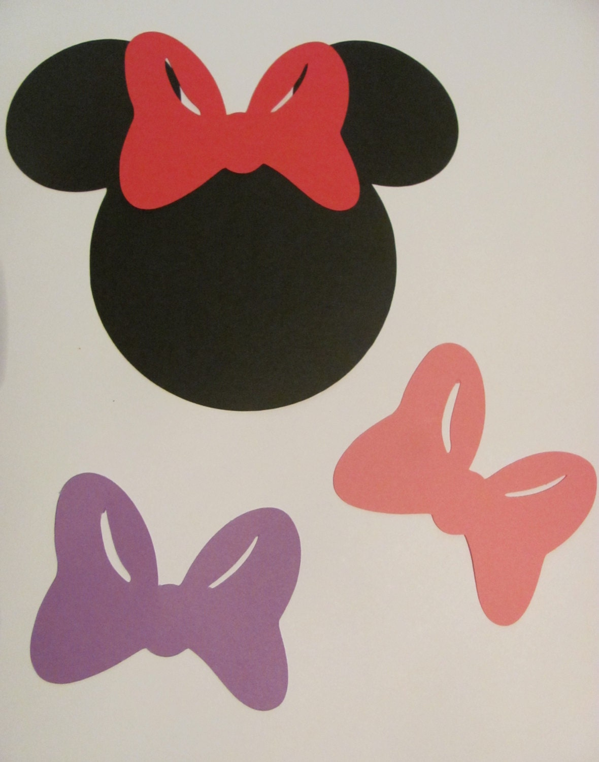 25 5 Minnie Mouse Silhouettes with Bows by ThePaperExpressShop