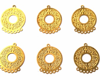 Gold filled brass round stampings / connectors