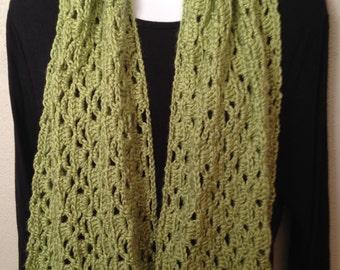 Pistachio green crocheted shoulder wrap