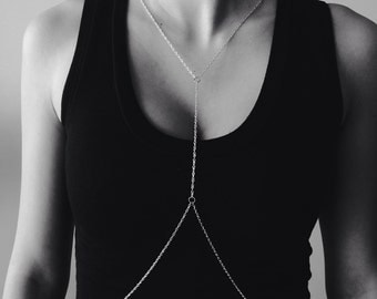 Simple Silver Body Chain