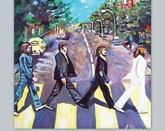"DIGITAL DOWNLOAD, Beatles Abbey Road Album Cover | 10"" x 10"""
