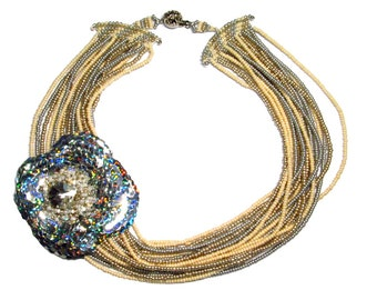 NECKLACE PAILLETTES ROCAILLES